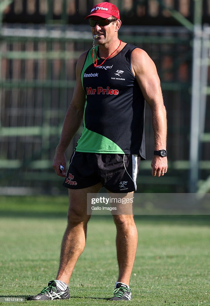 John Plumtree Head Coach during The Sharks training session at Kings Park on February 19, 2013 in Durban, South Africa.