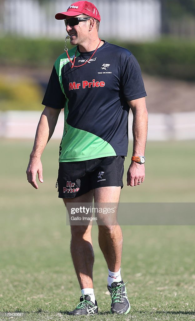 John Plumtree Head Coach of the Sharks during The Sharks training session at Growthpoint Kings Park on June 13, 2013 in Durban, South Africa.