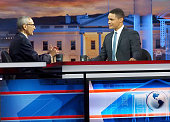 John Podesta Chairman of the 2016 Hilary Clinton Presidential Campaign and host Trevor Noah of Comedy Central's 'The Daily Show with Trevor Noah...