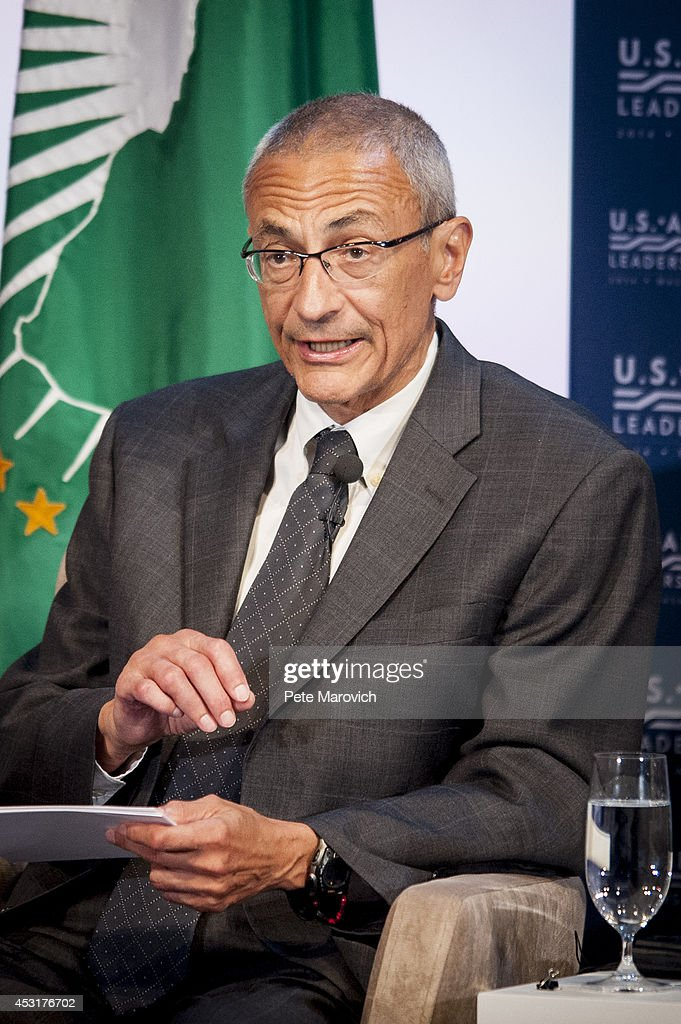 John Podesta moderates a panel discussion during the Resilience and Food Security in Changing Climate Forum at the National Academy of Sciences as part of the first U.S.-Africa Leaders Summit on August 4, 2014 in Washington, DC. The event brings together U.S. and African government leaders, members of African and U.S. civil society and the diaspora, and private sector leaders, focusing on using the knowledge and experience of citizens and civil society to solve the key challenges of our time.