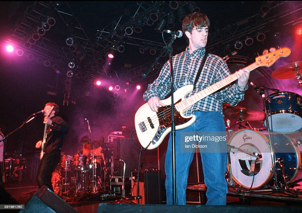 John Power and Peter Wilkinson of Cast performing on stage at The Forum Kentish Town London 23 March 1996