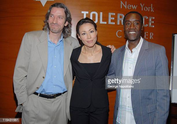 John Prendergast Ann Curry and Don Cheadle during 'Not On Our Watch' Book Signing with John Prendergast and Don Cheadle at the New York Tolerance...