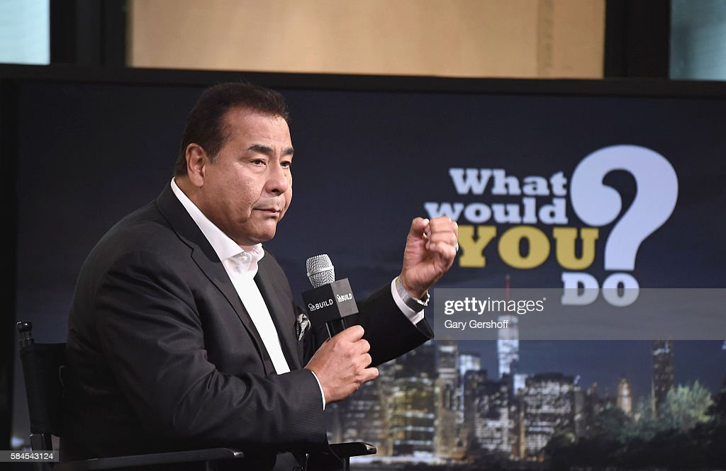 John Quinones attends AOL BUILD Presents to discuss his show 'What Would You Do' at AOL HQ on July 29 2016 in New York City
