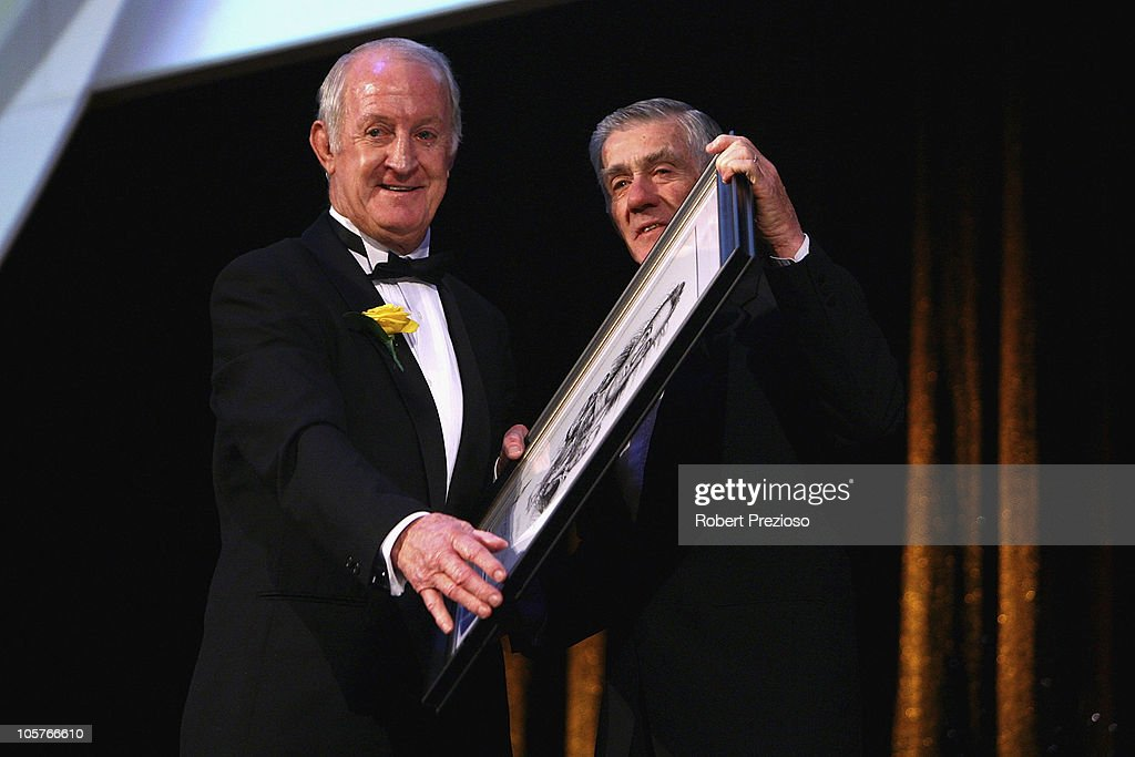 John Raper is elevated to Legend status during the Sport Australia Hall of Fame at Crown Casino on October 20, 2010 in Melbourne, Australia.