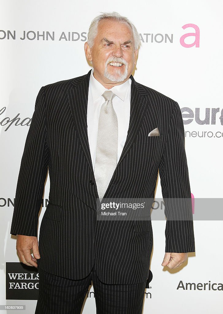 <a gi-track='captionPersonalityLinkClicked' href=/galleries/search?phrase=John+Ratzenberger&family=editorial&specificpeople=239093 ng-click='$event.stopPropagation()'>John Ratzenberger</a> arrives at the 21st Annual Elton John AIDS Foundation Academy Awards viewing party held at West Hollywood Park on February 24, 2013 in West Hollywood, California.