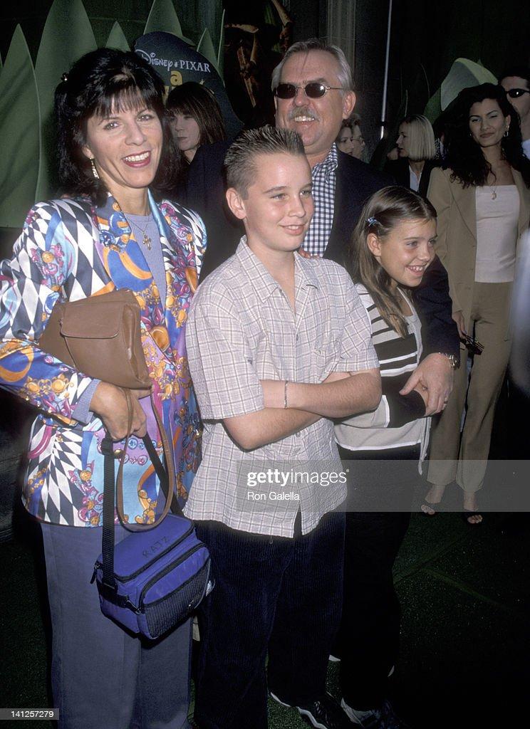 John Ratzenberger, Georgia Stiny, son James Ratzenberger, and daughter Nina Ratzenberger at the Premiere of 'A Bug's Life', El Capitan Theatre, Hollywood.