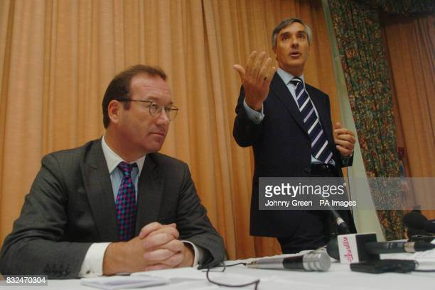 John Redwood MP speaks at a fringe meeting entitled 'The Case For Lower Taxes' held at the Bournemouth International Hotel in Bournemouth Dorset as...