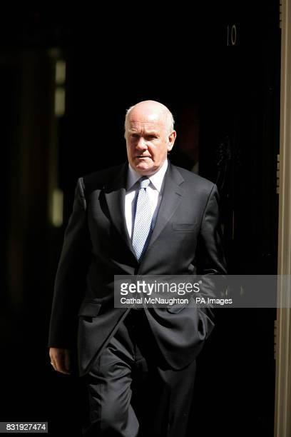 John Reid leaves number 10 Downing Street in central London