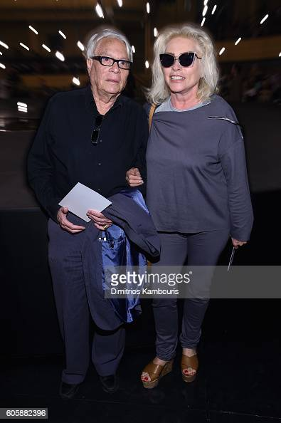 John Reinhold and Debbie Harry attend the Marc Jacobs Spring 2017 fashion show front row during New York Fashion Week at the Hammerstein Ballroom on...