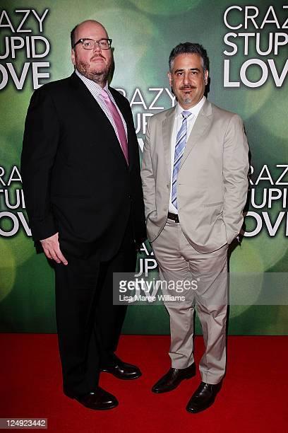 John Requa and Glenn Ficarra arrive at the premiere of 'Crazy Stupid Love' at Event Cinemas Bondi Junction on September 14 2011 in Sydney Australia