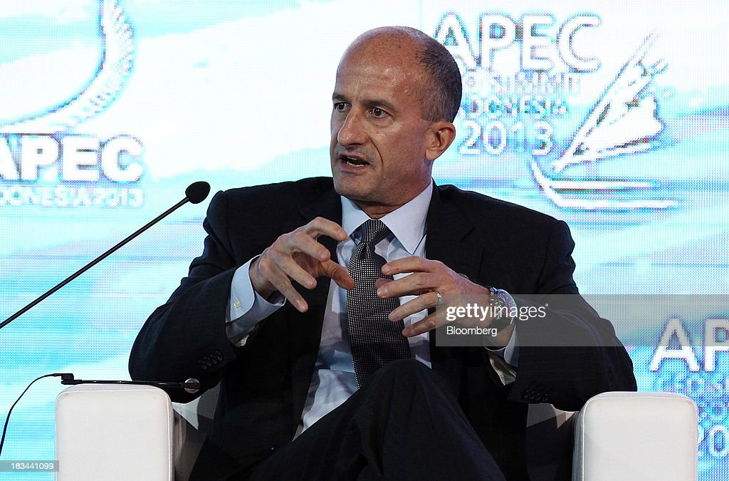 <a gi-track='captionPersonalityLinkClicked' href=/galleries/search?phrase=John+Rice&family=editorial&specificpeople=91246 ng-click='$event.stopPropagation()'>John Rice</a>, vice chairman of General Electric Co., speaks during a panel discussion at the Asia-Pacific Economic Cooperation (APEC) CEO Summit in Nusa Dua, Bali, Indonesia, on Sunday, Oct. 6, 2013. Global growth will probably be slower and less balanced than desired, ministers from the APEC member economies said as they agreed to refrain from raising new barriers to trade and investment. Photographer: SeongJoon Cho/Bloomberg via Getty Images