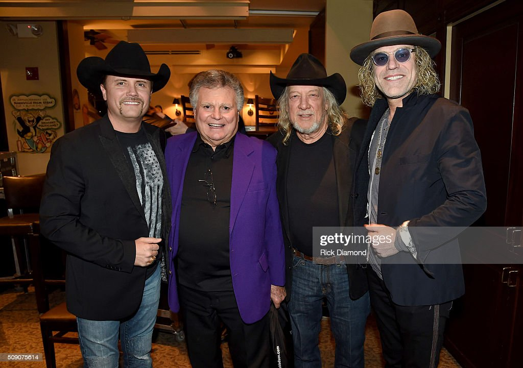 <a gi-track='captionPersonalityLinkClicked' href=/galleries/search?phrase=John+Rich+-+Singer&family=editorial&specificpeople=211184 ng-click='$event.stopPropagation()'>John Rich</a>, Leroy Van Dyke, John Anderson, and Big Kenny attend the 2nd Annual Legendary Lunch presented by Webster Public Relations and CMA at The Palm Restaurant on February 8, 2016 in Nashville, Tennessee.