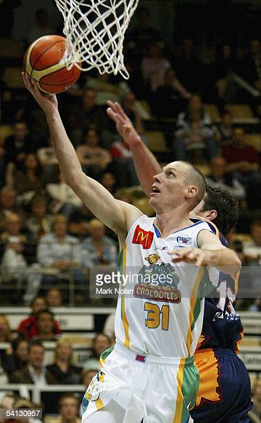 John Rillie of the Crocodiles in action during the round one NBL match between the West Sydney Razorbacks and the Townsville Crocodiles at the Sydney...