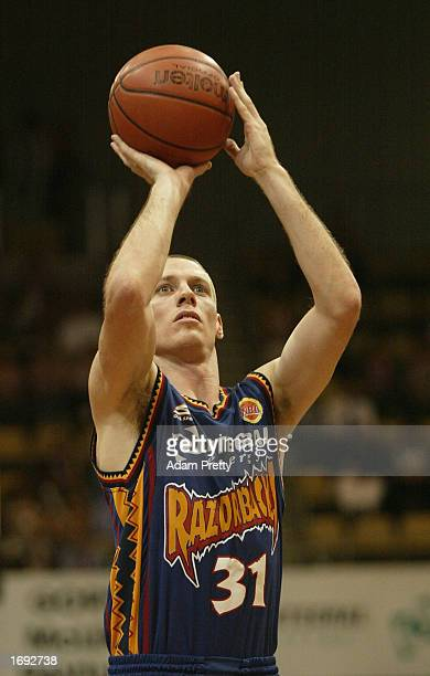 John Rillie of the Razorbacks in action during the NBL Basketball game between the West Sydney Razorbacks and the Wollongong Wolves at the State...
