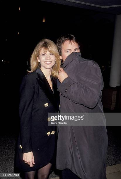 John Ritter Markie Post during CBS TV party at Loews Hotel in Santa Monica California United States