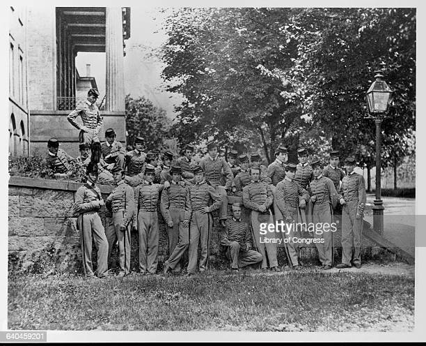 John Rodgers Meigs with West Point classmates of 1863 probably taken in 1862