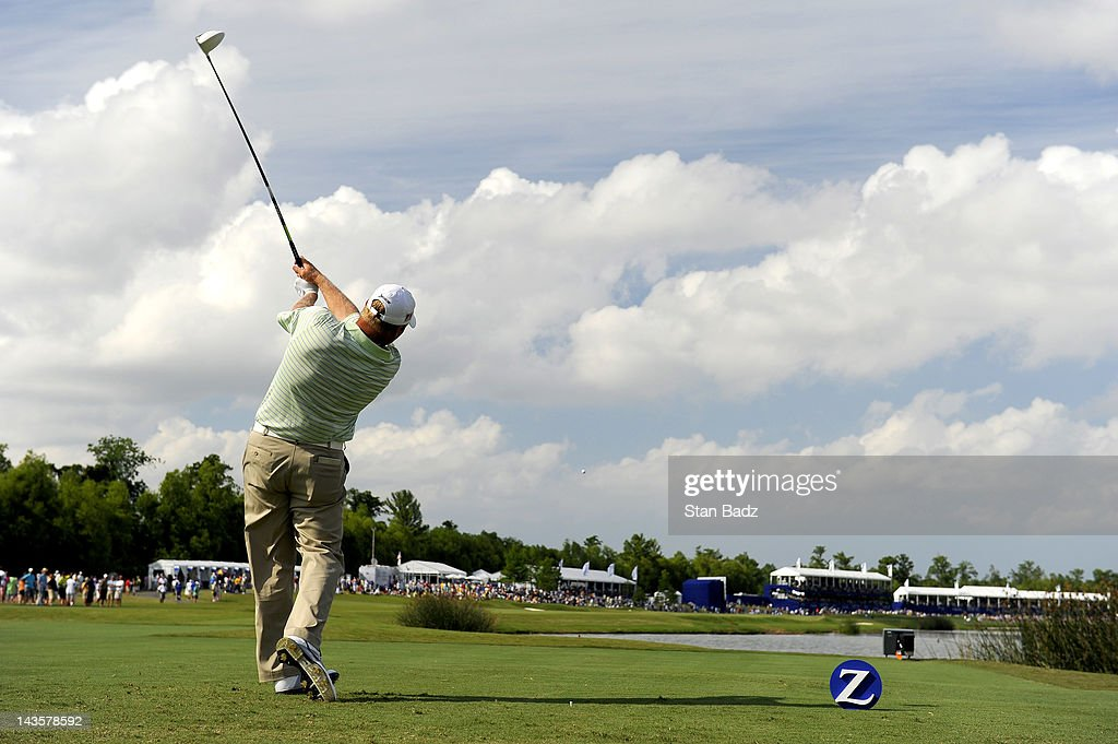 <a gi-track='captionPersonalityLinkClicked' href=/galleries/search?phrase=John+Rollins&family=editorial&specificpeople=228129 ng-click='$event.stopPropagation()'>John Rollins</a> hits a drive on the 18th hole during the final round of the Zurich Classic of New Orleans at TPC Louisiana on April 29, 2012 in New Orleans, Louisiana.