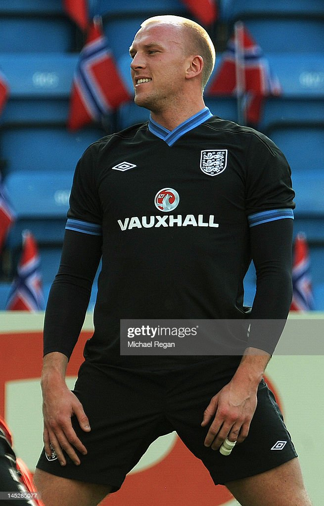 <a gi-track='captionPersonalityLinkClicked' href=/galleries/search?phrase=John+Ruddy&family=editorial&specificpeople=822348 ng-click='$event.stopPropagation()'>John Ruddy</a> looks on during the England training session and press conference at the Ullevaal Stadion on May 25, 2012 in Oslo, Norway.