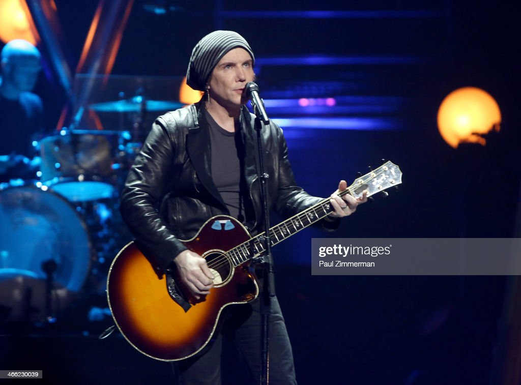 John Rzenik of band Goo Goo Dolls performs during VH1's 'Super Bowl Blitz: Six Nights + Six Concerts' at St. George Theatre on January 31, 2014 in the Staten Island borough of New York City.
