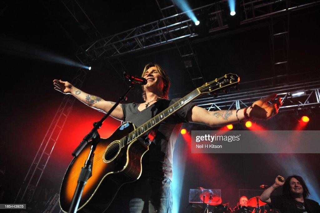 John Rzenik of Goo Goo Dolls performs at 02 academy on October 20, 2013 in Leeds, England.