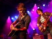 John Rzeznik and Robby Takac of Goo Goo Dolls perform at Austin Music Hall on June 9 2010 in Austin Texas