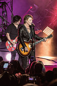 John Rzeznik and Robby Takac of Goo Goo Dolls perform at The Greek Theatre on July 17 2016 in Los Angeles California