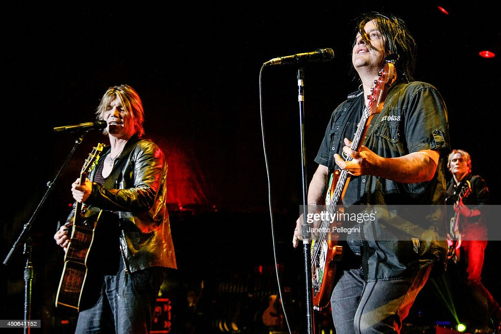 John Rzeznik and Robby Takac of The Goo Goo Dolls perform in concert at Nikon at Jones Beach Theater on June 14, 2014 in Wantagh, New York.