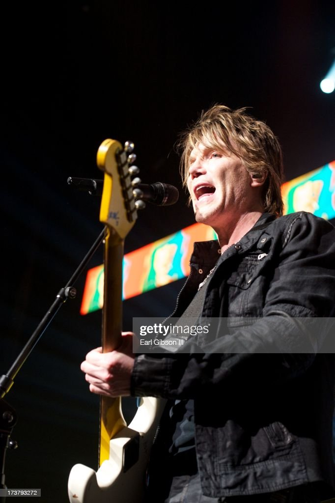 John Rzeznik (lead singer) and the Goo Goo Dolls perform at Gibson Amphitheatre on July 17, 2013 in Universal City, California.