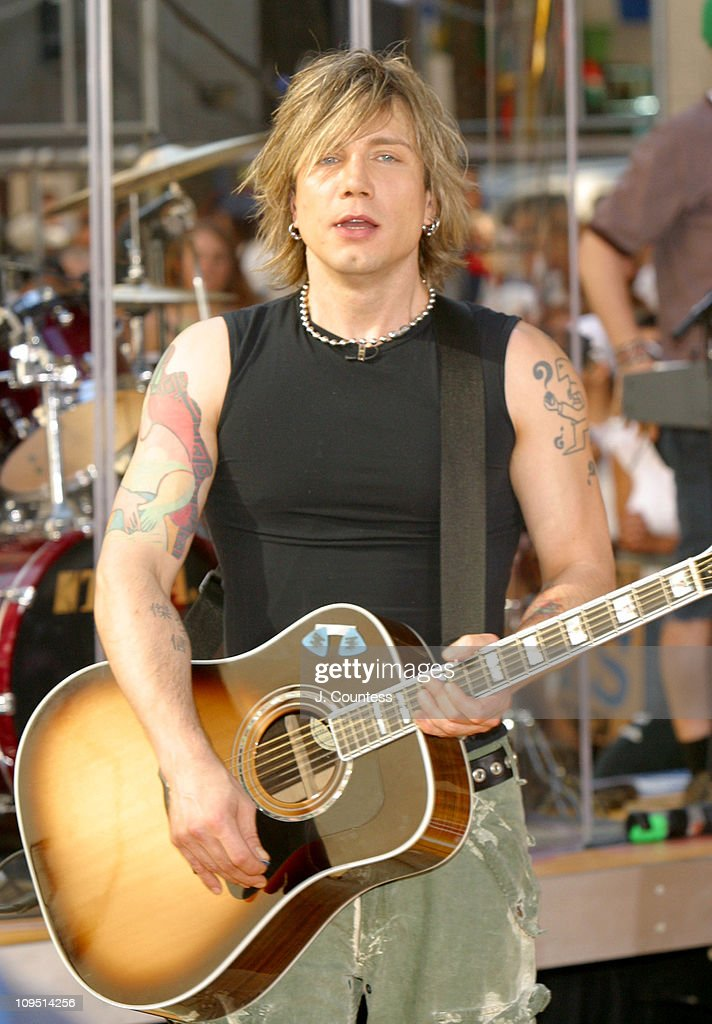 John Rzeznik during Goo Goo Dolls Perform on 'The Today Show' Summer Concert Series July 25 2003 at NBC Studios Rockefeller Plaza in New York City...