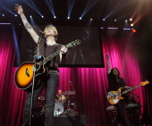 John Rzeznik Mike Malinin and Robby Takac of Goo Goo Dolls perform during the 2013 Star 94 Jingle Jam at Arena at Gwinnett Center on December 16 2013...