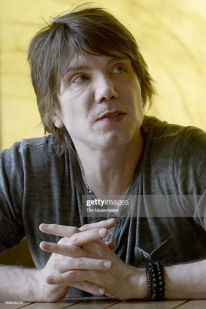 John Rzeznik of the Goo Goo Dolls attends a press interview at Trinchero Family Estate as part of Live In The Vineyard on April 6, 2013 in Napa, California.