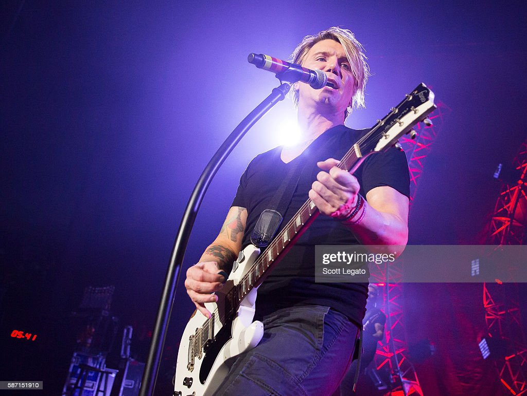 John Rzeznik of the Goo Goo Dolls perform at Freedom Hill Amphitheater on August 7 2016 in Sterling Heights Michigan