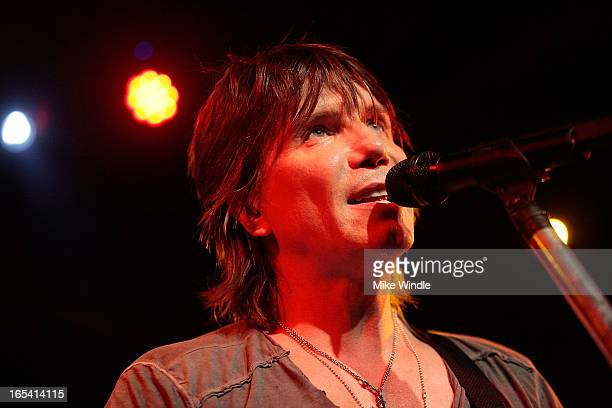 John Rzeznik of the Goo Goo Dolls performs on stage during 1043FM and Warner Sound present the Goo Goo Dolls in concert at Troubadour on April 3 2013...