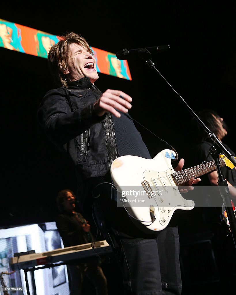 John Rzeznik of the Goo Goo Dolls performs onstage at Gibson Amphitheatre on July 17, 2013 in Universal City, California.
