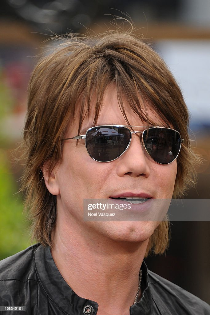<a gi-track='captionPersonalityLinkClicked' href=/galleries/search?phrase=John+Rzeznik&family=editorial&specificpeople=220876 ng-click='$event.stopPropagation()'>John Rzeznik</a> of the Goo Goo Dolls visits 'Extra' at The Grove on May 8, 2013 in Los Angeles, California.