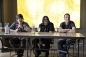 John Rzeznik Robbie Takac and Mike Malinin of Goo Goo Dolls attend the Trinchero Family Estates for a QA at Live In The Vineyards on April 6 2013 in...