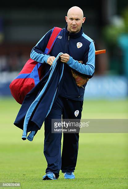 John Sadler looks on after being named Head Coach of Derbyshire County Cricket Club for the rest of the season ahead of the NatWest T20 Blast match...
