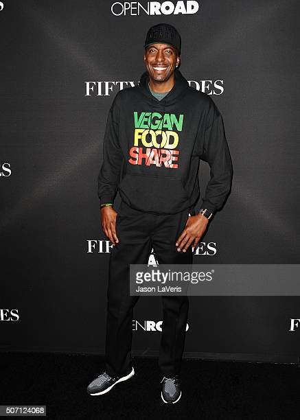 John Salley attends the premiere of 'Fifty Shades of Black' at Regal Cinemas LA Live on January 26 2016 in Los Angeles California