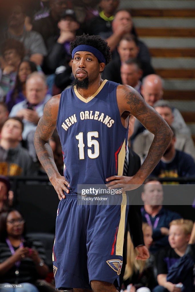John Salmons of the New Orleans Pelicans stands on the court during the game against the Sacramento Kings on November 18 2014 at Sleep Train Arena in...
