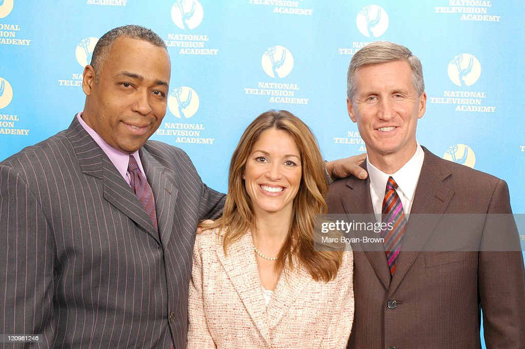 John Saunders, Samantha Ryan and Mike Breen during 27th Annual Sports Emmy Awards - Press Room at Frederick P. Rose Hall at Lincoln Center in New York City, New York, United States.