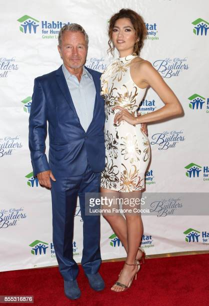 John Savage and Blanca Blanco attend the 2017 Los Angeles Builders Ball at The Beverly Hilton Hotel on September 28 2017 in Beverly Hills California