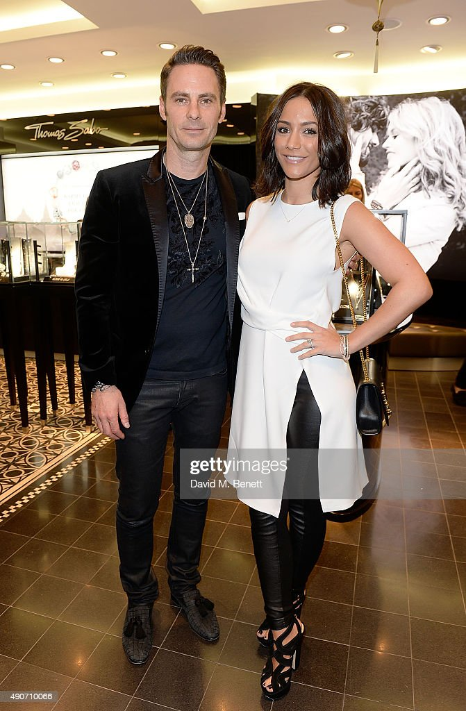 John Schluter and Frankie Bridge attend the Thomas Sabo Professional Player Magazine Cocktail Collection Launch on September 30 2015 in London England