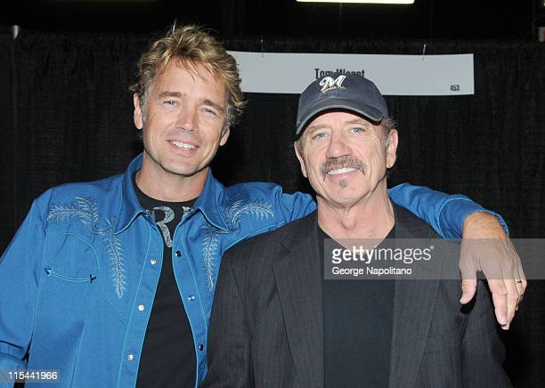 John Schneider and Tom Wopat attend Big Apple Comic Con at Pier 94 on October 16 2009 in New York City