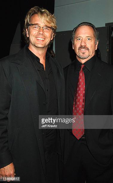John Schneider and Tom Wopat during 2006 TV Land Awards Backstage and Audience at Barker Hangar in Santa Monica California United States