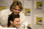 John Schneider speaks at the Smallville panel at ComicCon on July 24 2010 in San Diego California