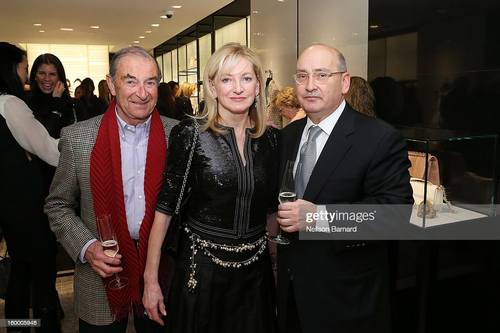 John Schumacher, Chanel EVP Barbara Cirkva and Bloomingdale's Vice Chairman/GMM RTW Frank Doroff attend Bloomingdale's celebration of the newly renovated Chanel RTW Boutique at Bloomingdale's 59th Street Store on January 24, 2013 in New York City.