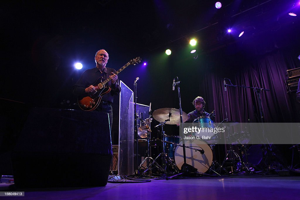 John Scofield (L) and Billy Martin of Madeski Scofield Martin & Wood perform at Ogden Theatre on December 7, 2012 in Denver, Colorado.