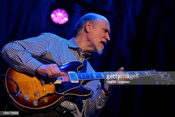 John Scofield performs on stage during day 2 of the Molde International Jazz Festival at Bjornsonhuset on July 17 2012 in Molde Norway
