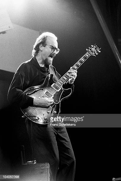John Scofield performs with the Miles Davis band at North Sea Festival on July 10 1984 in The Hague Netherlands