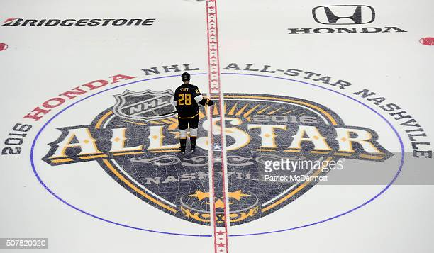 John Scott of the Arizona Coyotes plays in the 2016 Honda NHL AllStar Final Game between the Eastern Conference and the Western Conference at...